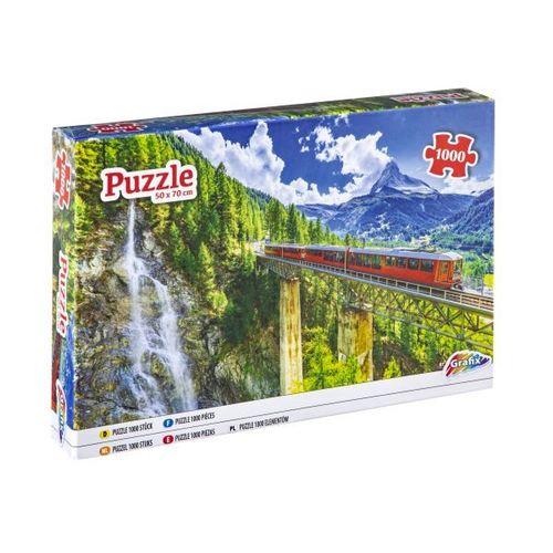 PUZZLE 1000 PCS MOUNTAIN RAILWAY 400001