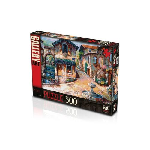 PUZZLE 500 PCS THE FOUNTAIN ON THE SQUARE