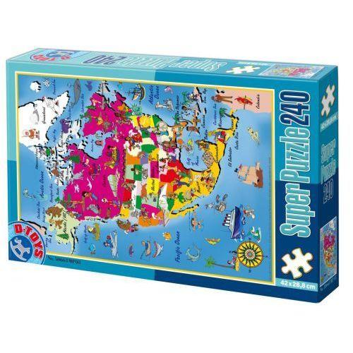 SUPER PUZZLE  240PCS MAPS 03